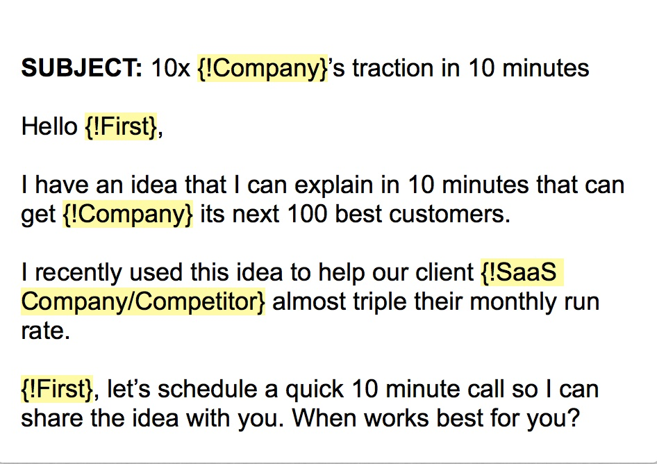 The cold email template that got 16 new b2b customers for Email cold call template