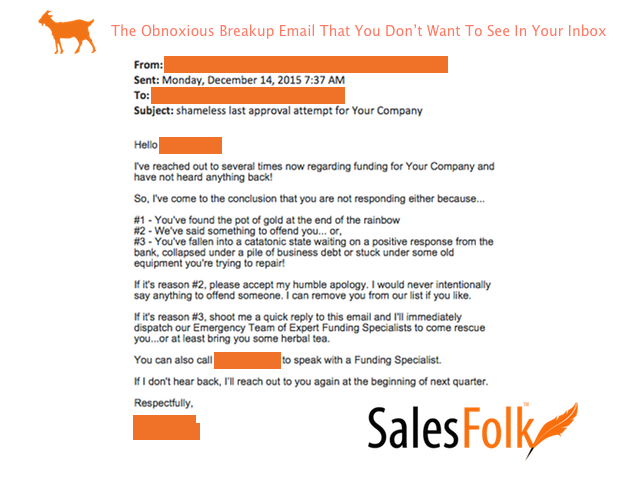 Email - The Obnoxious Breakup Email That You Don't Want To See