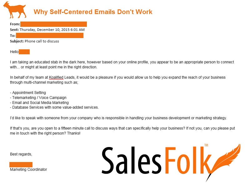 Why Self Centered Emails Dont Work