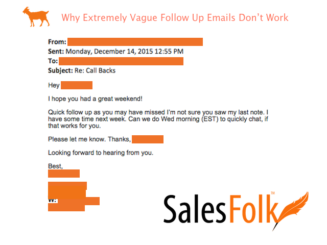 why vague emails don't work