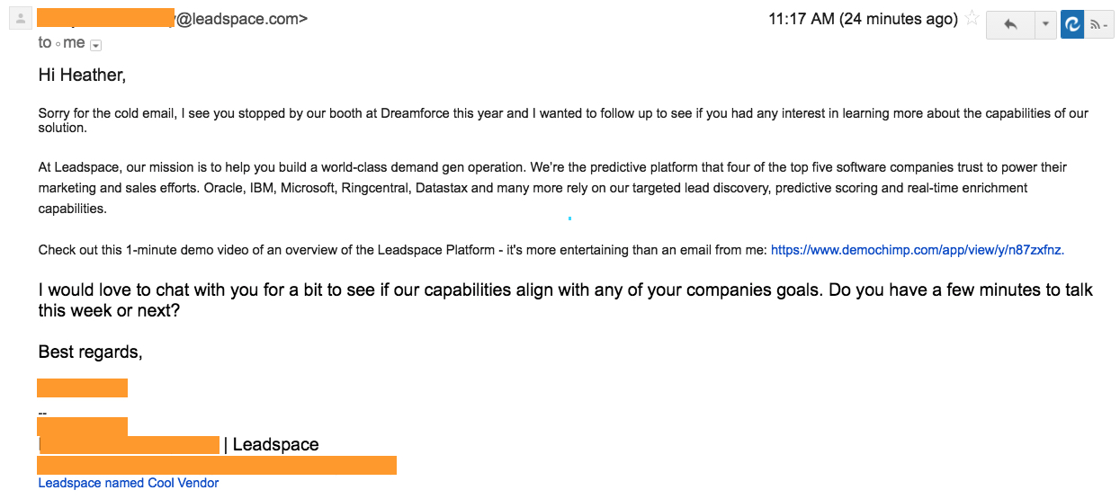 leadspace lies about dreamforce